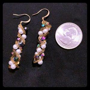 NWT unique beaded dangle earrings